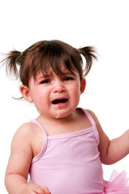 Cranky sad crying baby toddler face