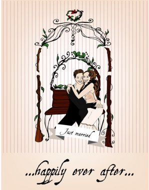 Vector illustrated married couple