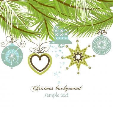Stylish Christmas background