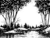 jezero v březový les