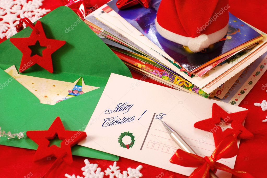 Writing greeting cards for christmas stock photo teresaterra writing greeting cards for christmas stock photo m4hsunfo