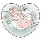 illustrazione vettoriale romantico astratto