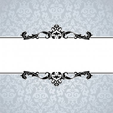 Abstract cute decorative vintage frame vector illustration clip art vector