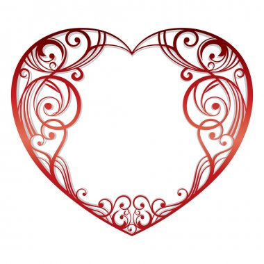 Abstract heart on white background vector illustration clip art vector