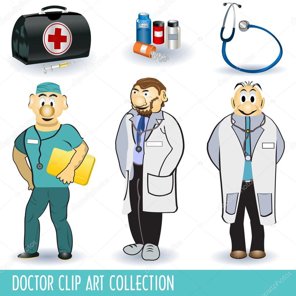 كشاف لسان تثبيت حقيبة الطبيب كرتون Clip Art Cmaptv Org