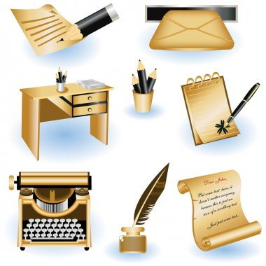 Writing icons 2
