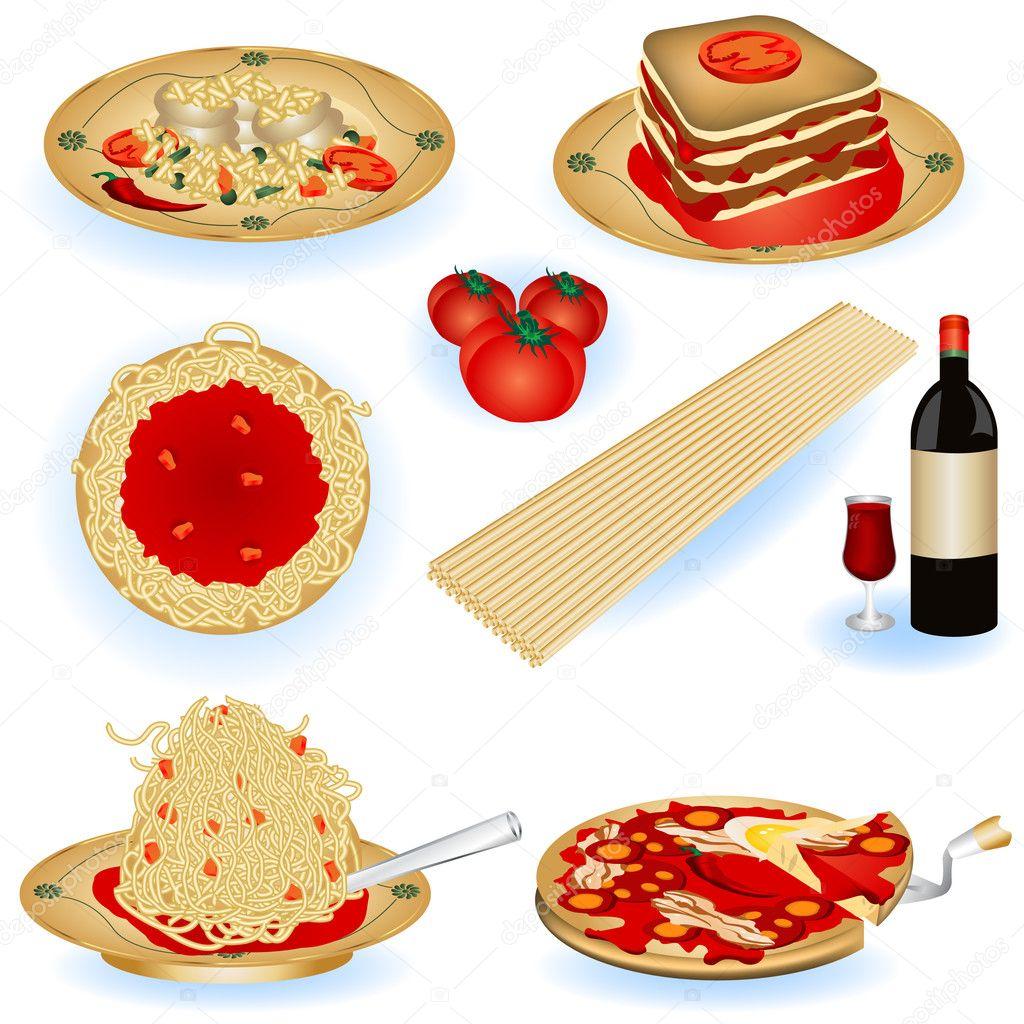 イタリア料理のイラスト ストックベクター Stiven 5210146