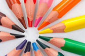 trojúhelníkové barevné tužky kruh