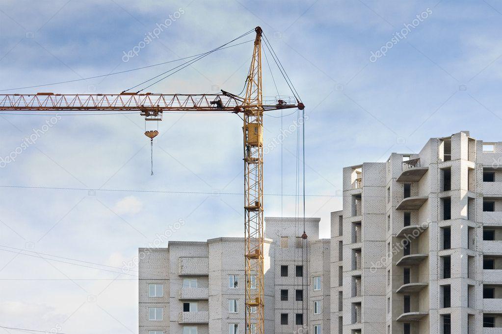 The building crane. New building