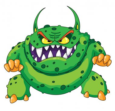 Angry green monster