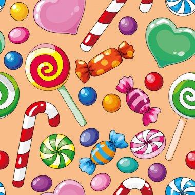Seamless pattern candies
