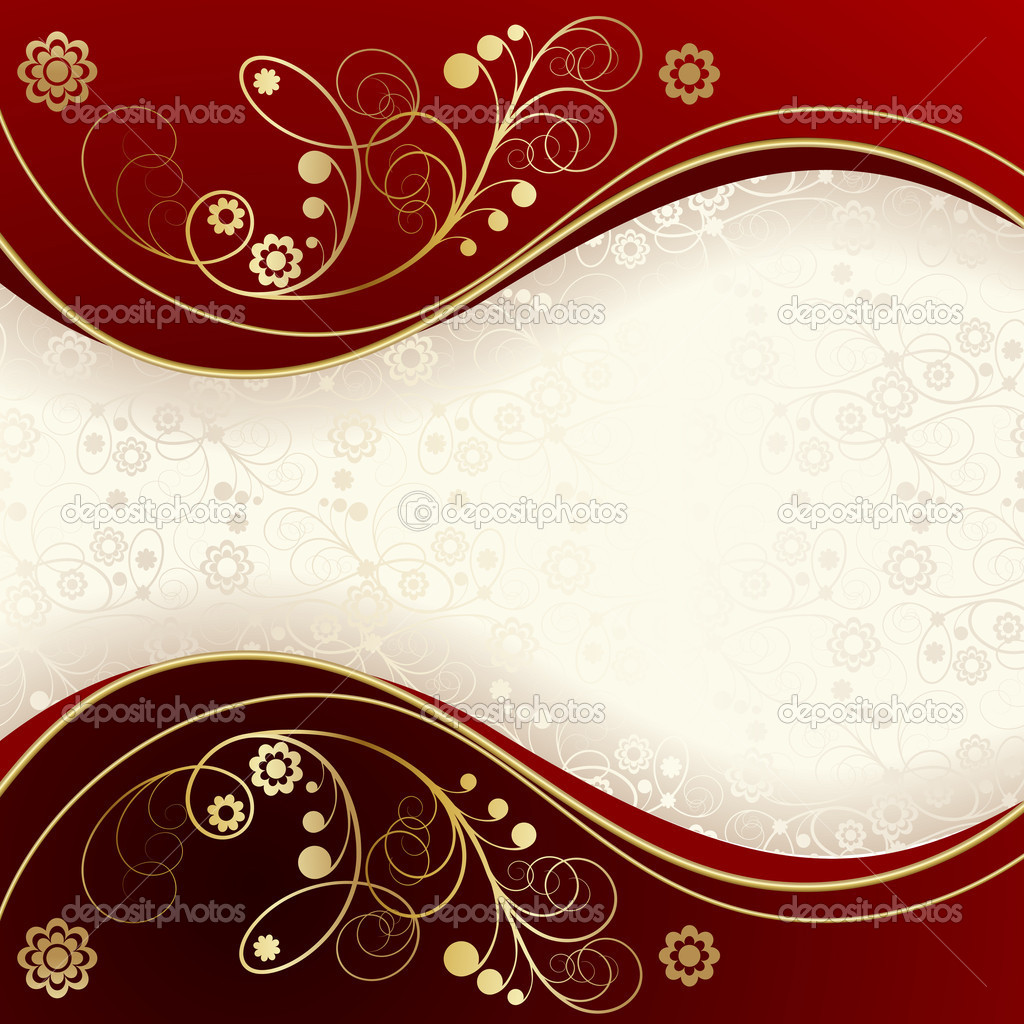 Red and gold background stock vector len pri 4256289 for Red with gold