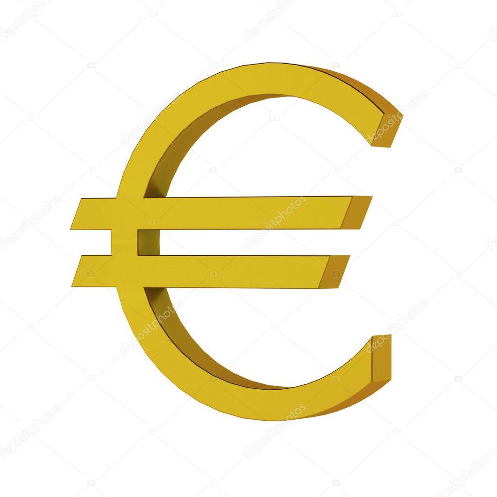 817665fdc 3D renderowania znak euro — Zdjęcie stockowe © montego #5372079