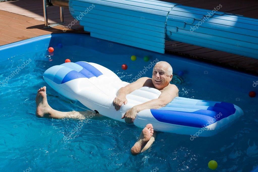 Old man having fun.