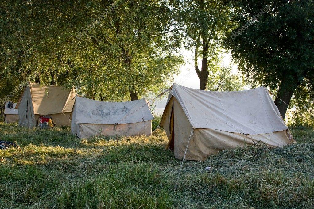 Camping tents.