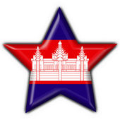 Fotografie Cambodia button flag star shape