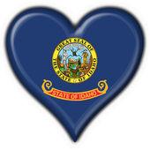 Idaho (USA State) button flag heart shape