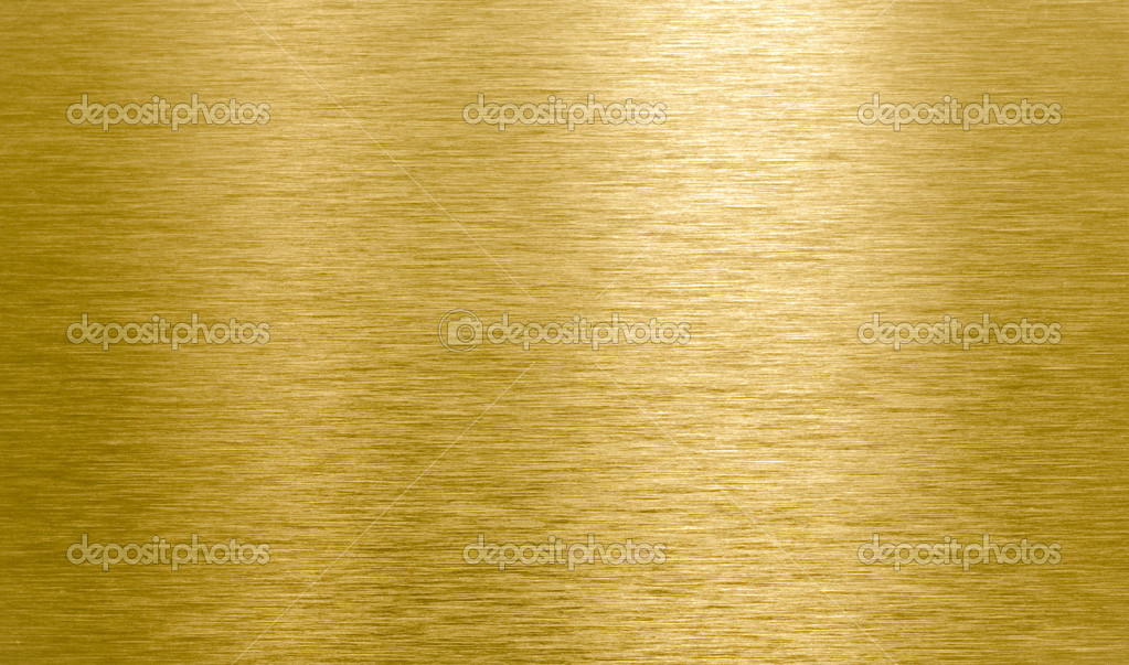Shining Brushed Brass Texture With Light Reflection