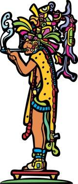 Old Smoking Mayan God