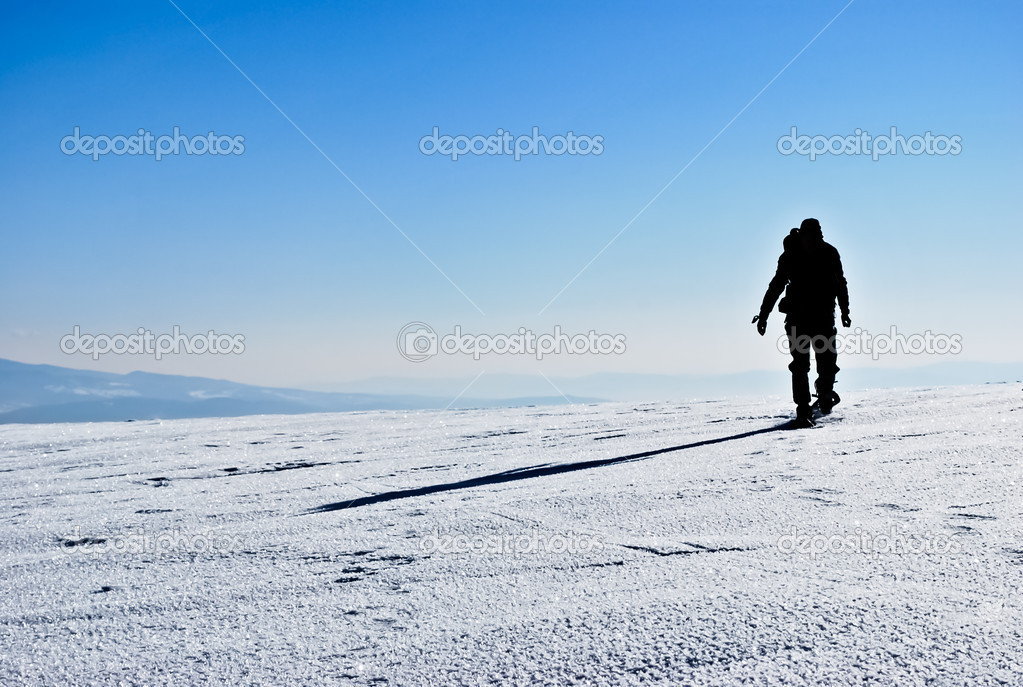 Hiker silhouette