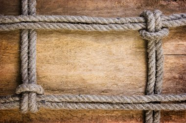Frame made of old rope