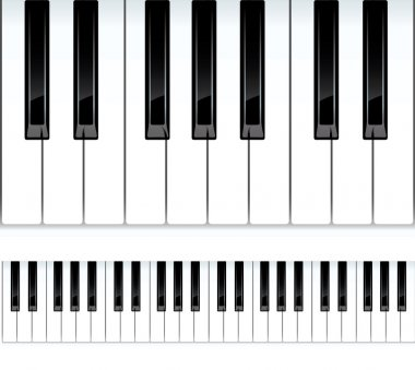 Piano keys. Seamless vector illustration.