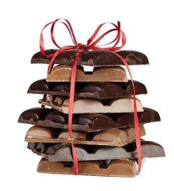 Chocolate blocks present