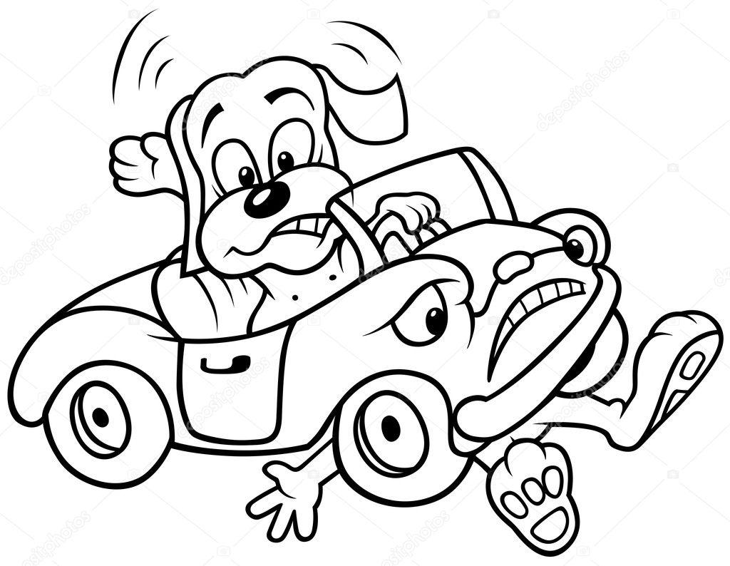 Dog and Car Crash — Stock Vector © dero2010 #4757567