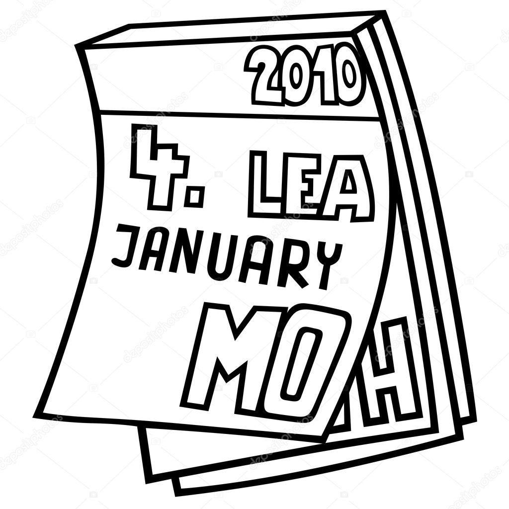 Calendar Drawing Cartoon : 撕日历 — 图库矢量图像 dero