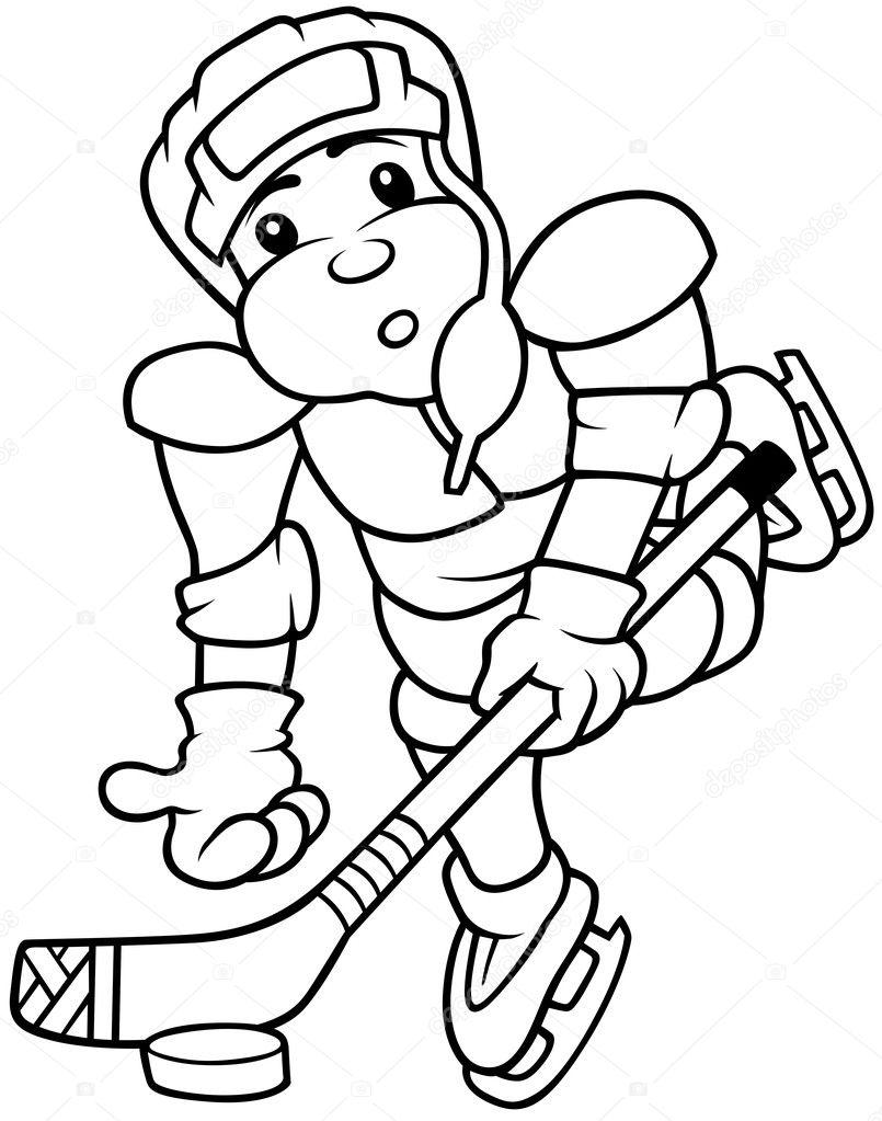 jugador de hockey — Archivo Imágenes Vectoriales © dero2010 #4847446