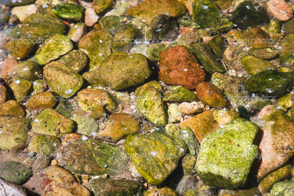 Stones unter water in a river