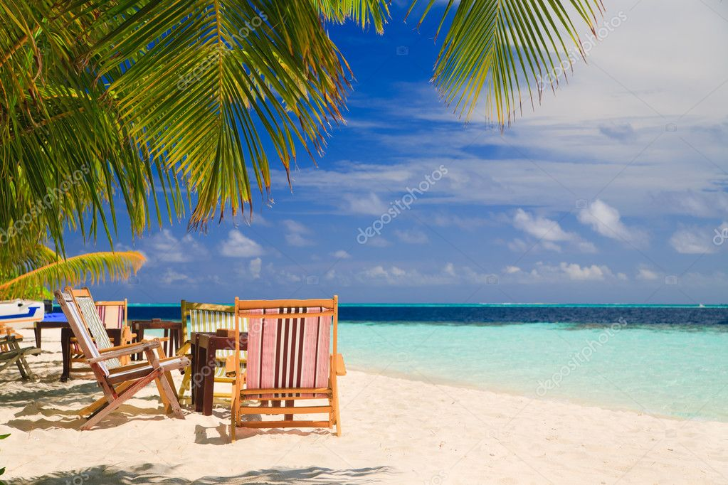 Relaxing on tropical paradise