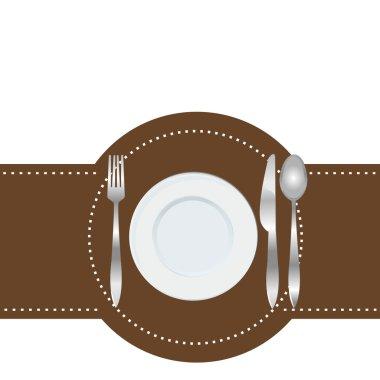 Menu of restaurant card