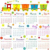 Fényképek 2011 naptár gyerekeknek vonat