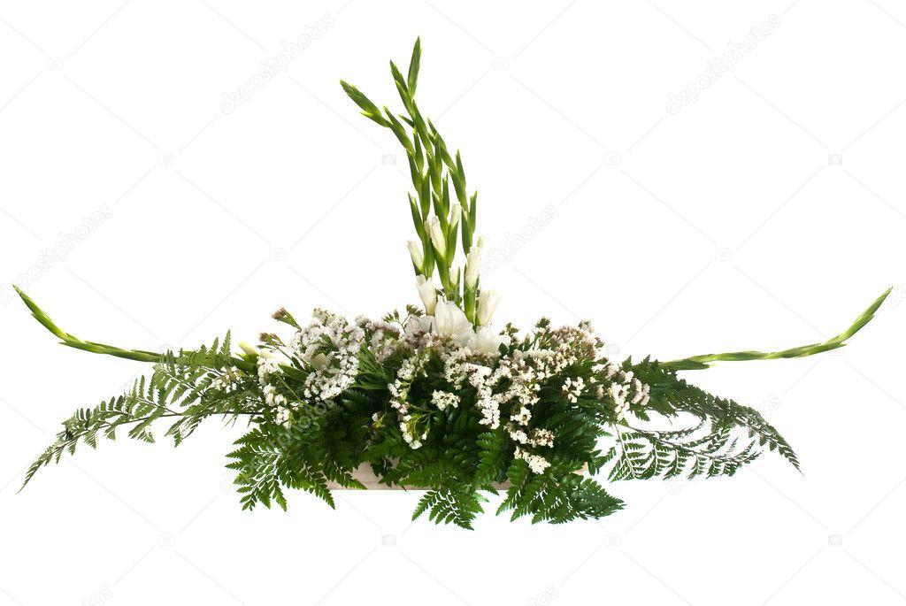 weiße Blumen-arrangement — Stockfoto © homydesign #4008129