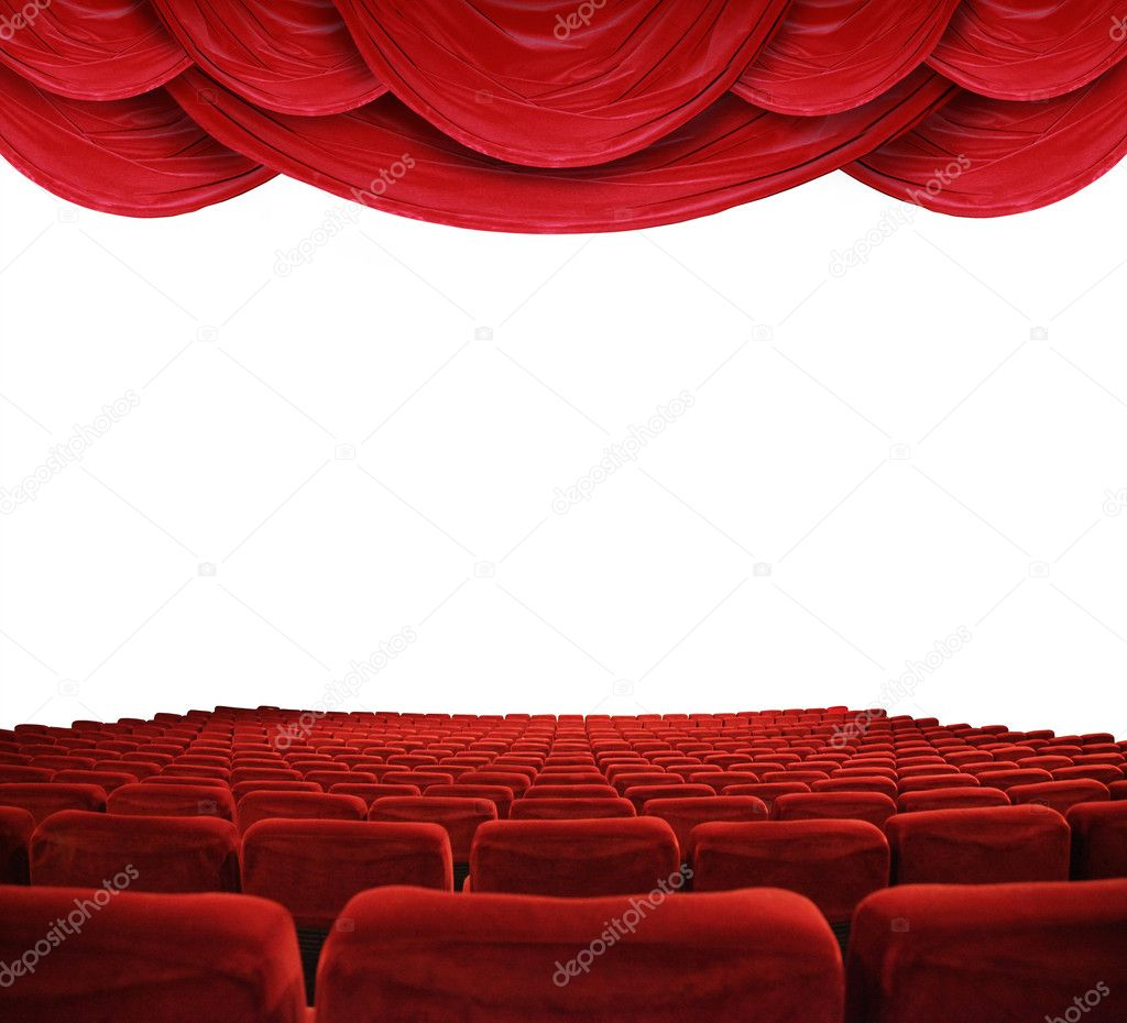 Classic Cinema With Red Seats U2014 Photo By Photochecker