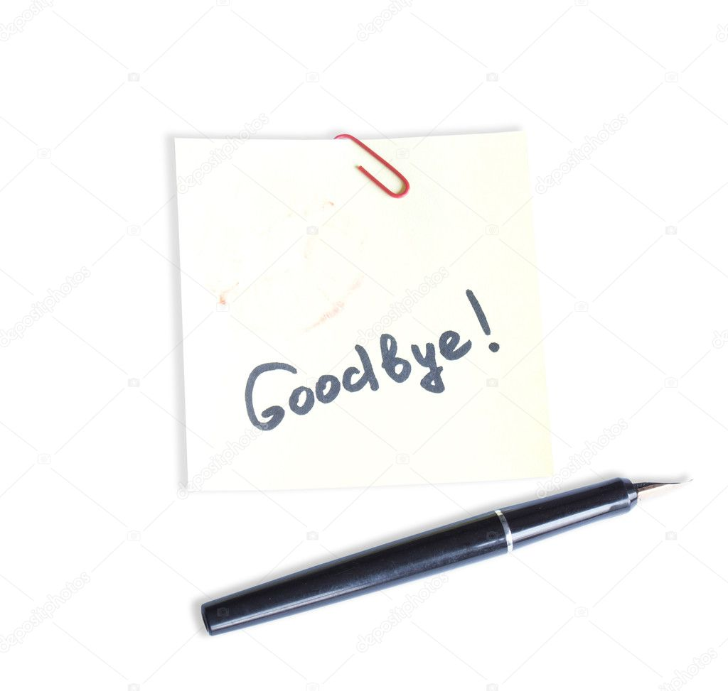 Farewell note stock photo alex150770 4119315 farewell note stock photo thecheapjerseys Images