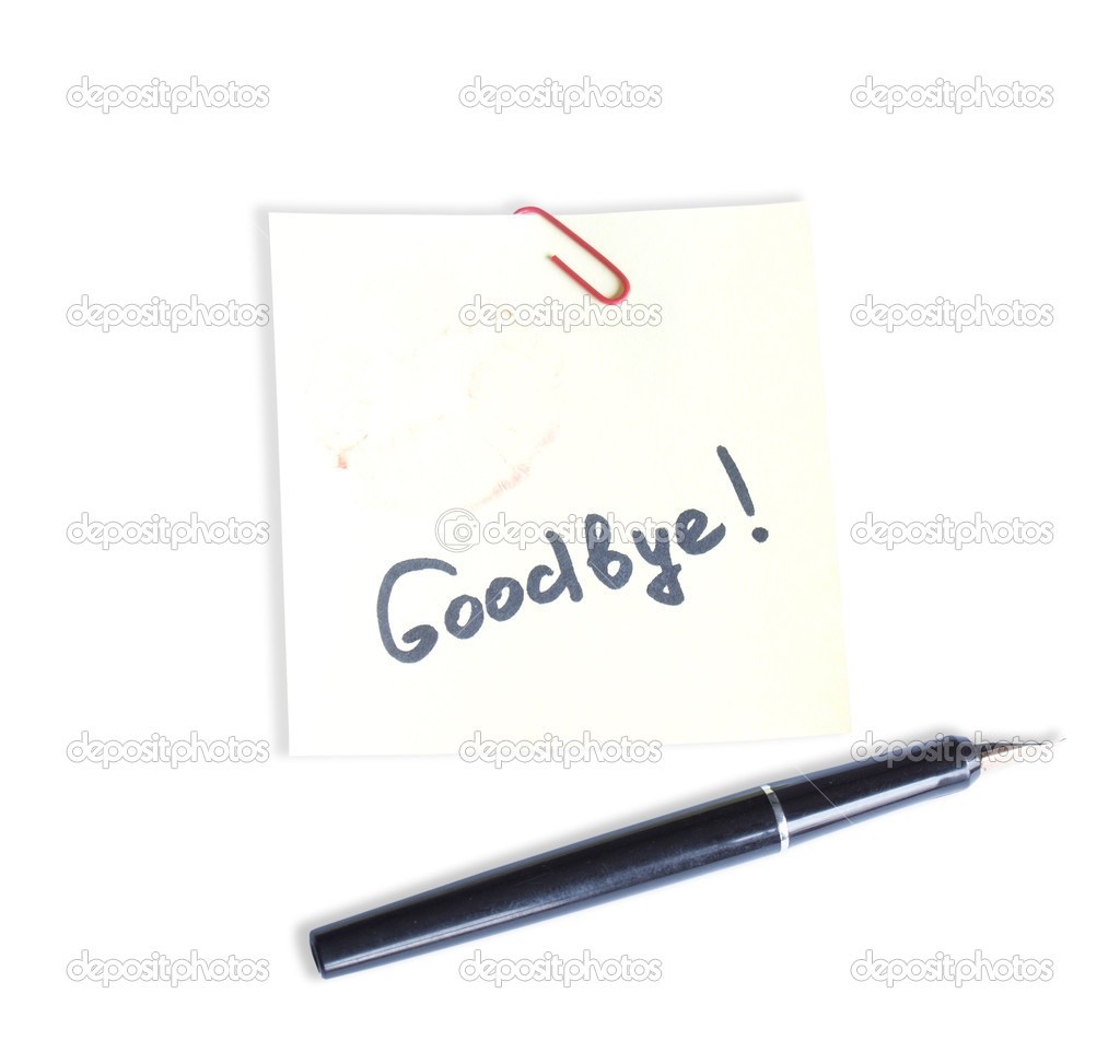 Farewell note stock photo alex150770 4121133 farewell note stock photo thecheapjerseys Image collections