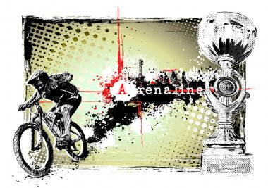 Adrenaline bike poster