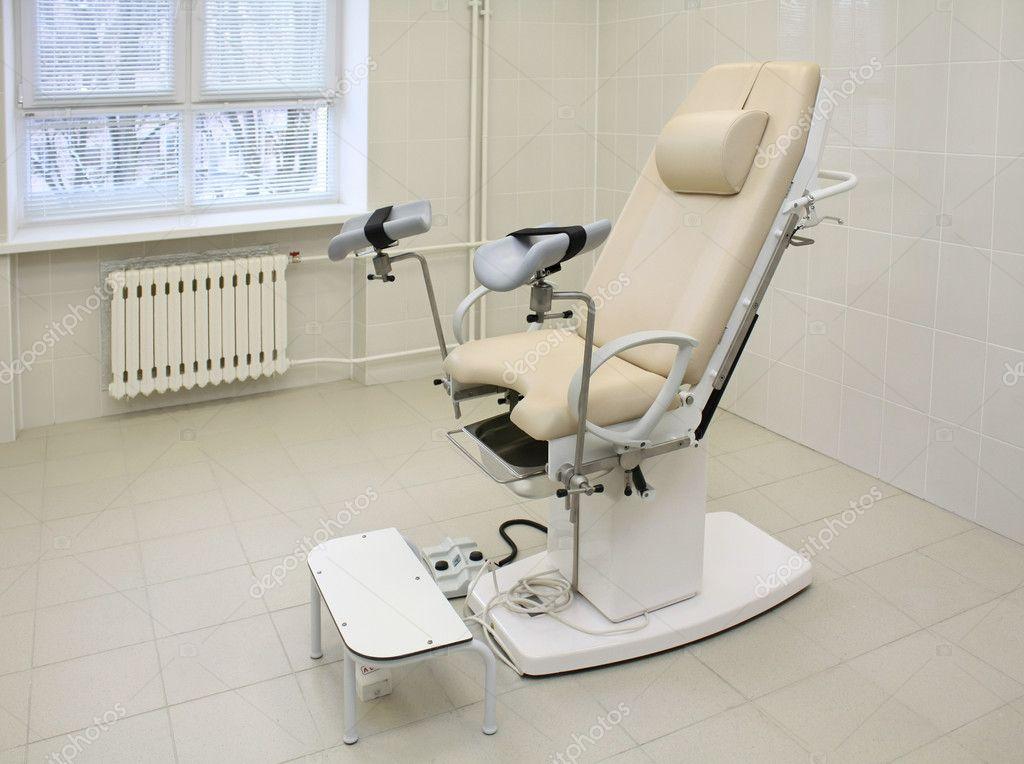 Chaise Gyncologique Dans Un Cabinet Mdical Aux Fins Dinspection Image De Milkakotka