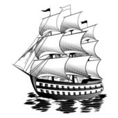 Schiff. Vektor-illustration