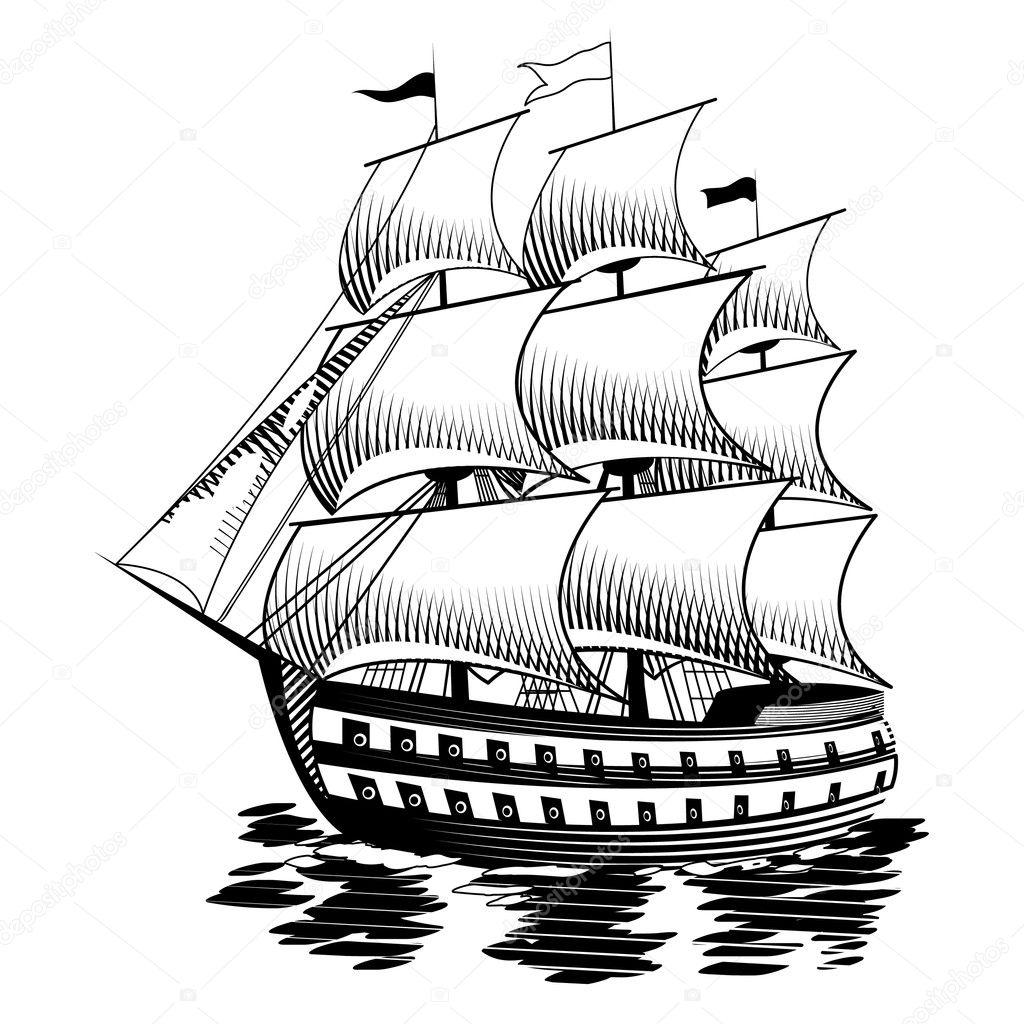 Depositphotos Stock Illustration Ship Vector Photo Pencil Drawings