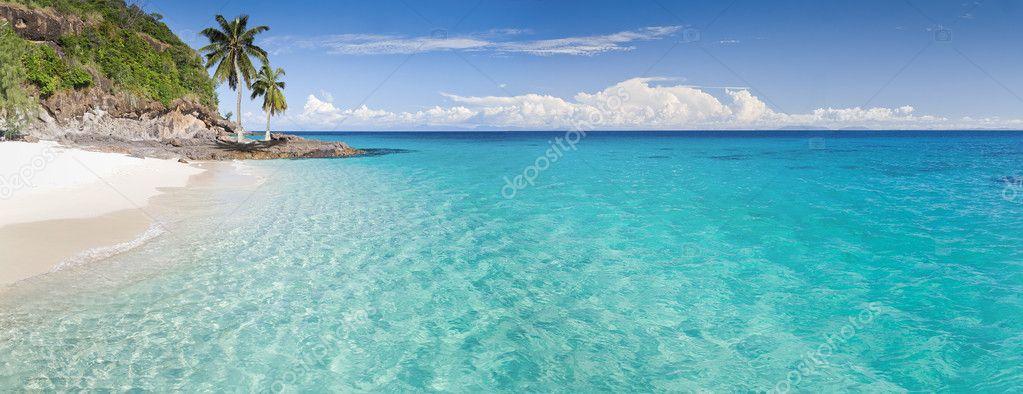 Island, beach and lagoon