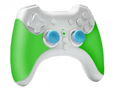 Modern Joystick, Gamepad or Video game controller, isolated on w
