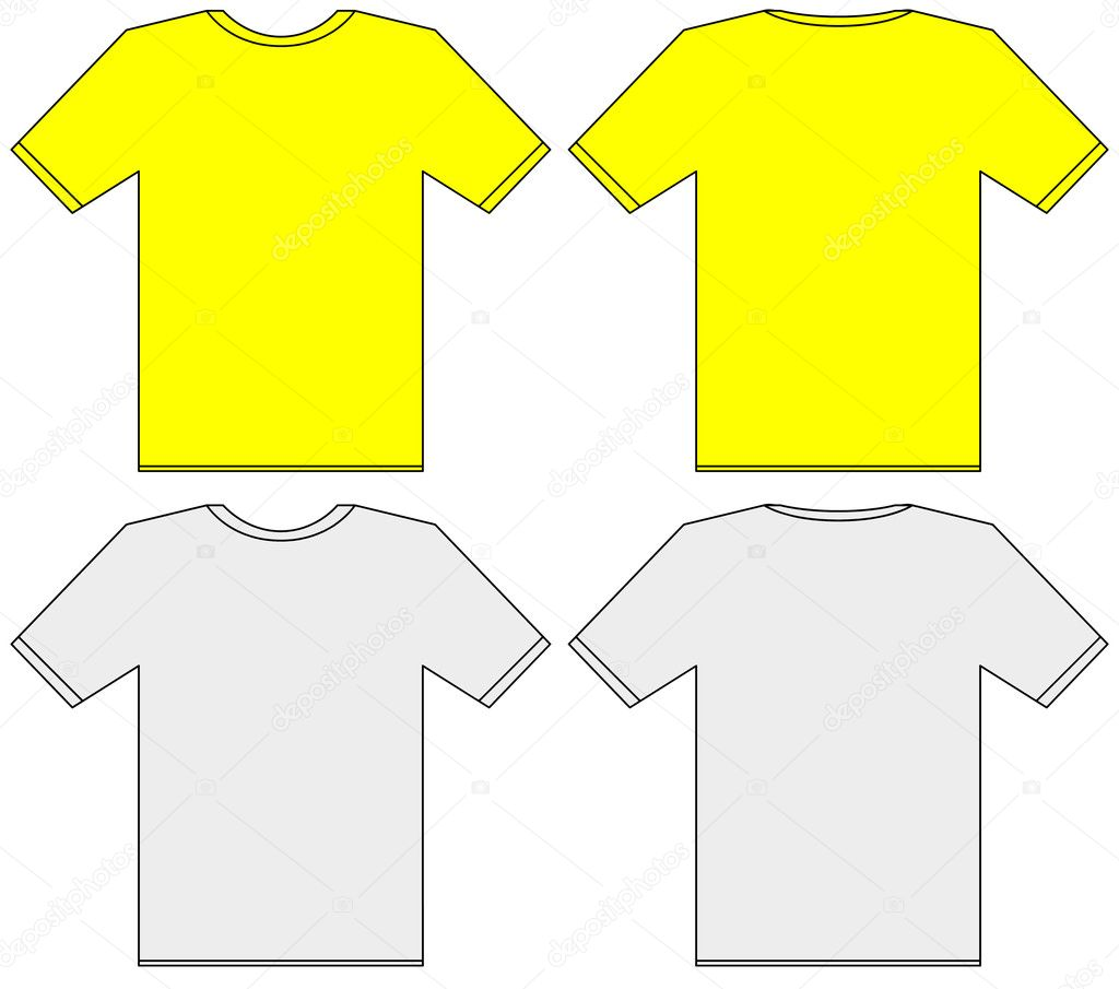 Unisex T Shirt Template Front And Back Illustration Stock Photo
