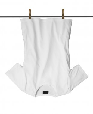 T-shirt with drying on clothesline
