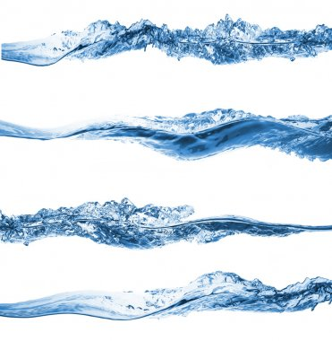 Set of water splashing isolated on white background