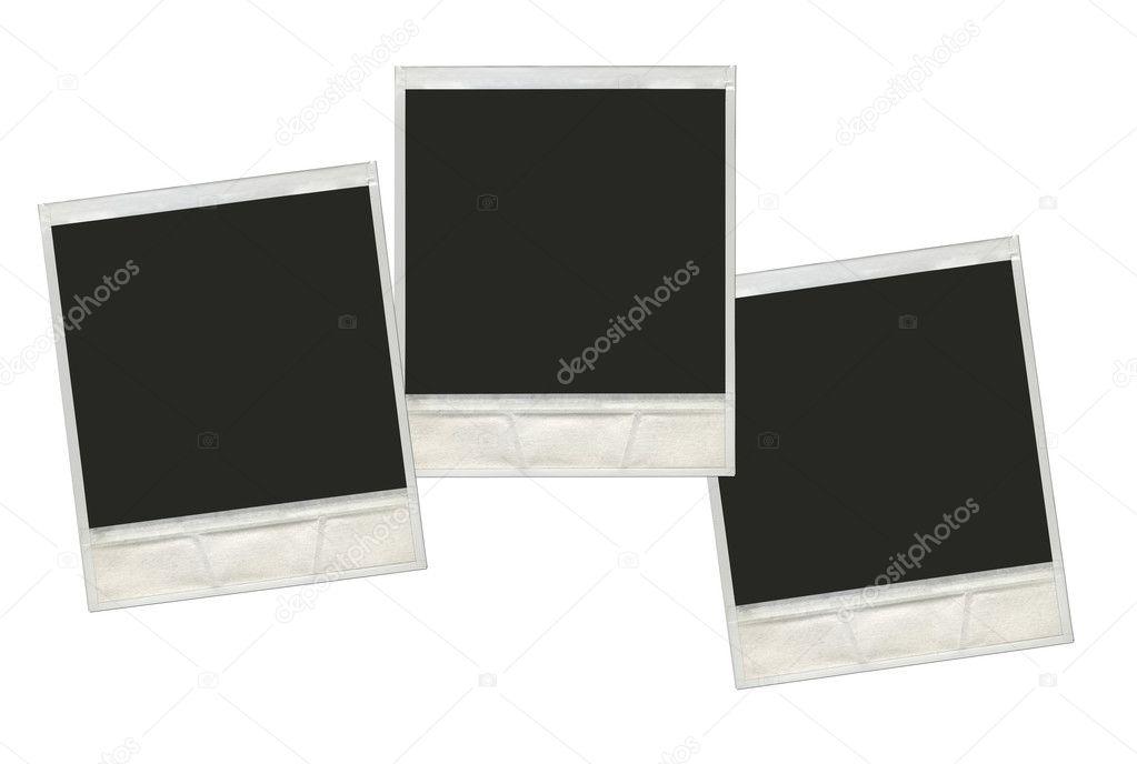 inmitten einer weißen Hintergrund re Vintage instant Polaroid-Foto ...