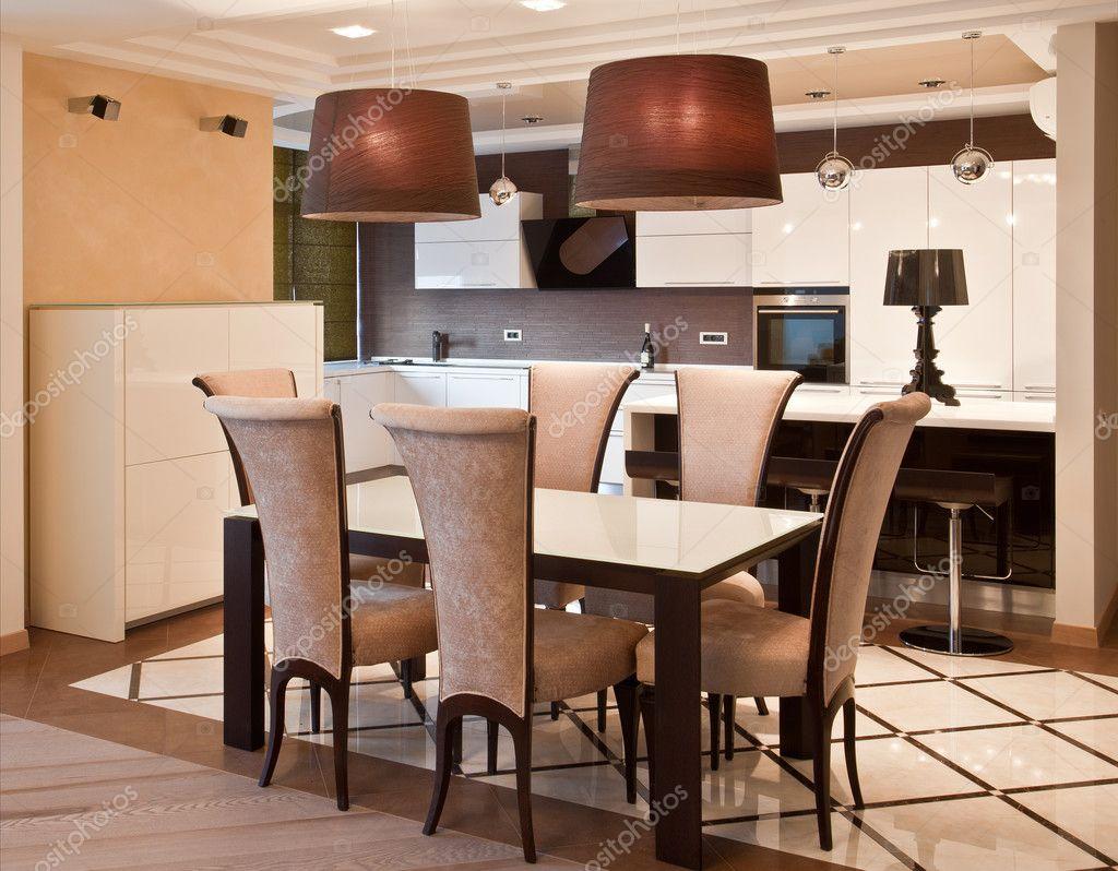 Cozinha Moderna Em Mans O De Luxo Fotografias De Stock Scratch  ~ Mansões Por Dentro Cozinha