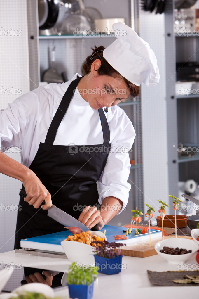 demostración de cocina — Fotos de Stock © Fotosmurf #4111946